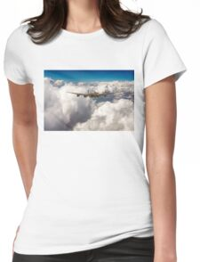 Avro Lancaster above clouds Womens Fitted T-Shirt