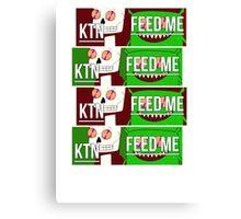 Feed me & Kill the noise Canvas Print