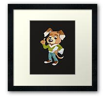 Vector Graphic Animinated Dog Framed Print