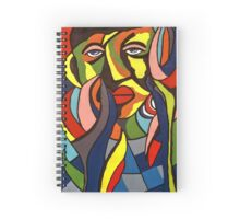 African Traditional Tribal Women Abstract Art Canvas Painting for Women, Girls, Ladies, Kids 3 Spiral Notebook