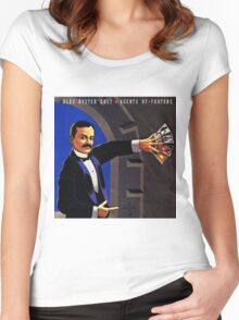 blue oyster cult agents of fortune Women's Fitted Scoop T-Shirt