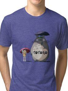 Totoro, Satsuki and Mei Tri-blend T-Shirt
