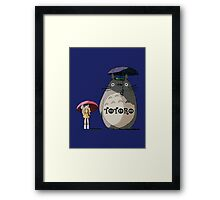 Totoro, Satsuki and Mei Framed Print