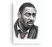 Idris Elba b&w image Canvas Print