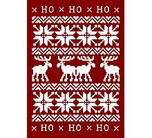 CHRISTMAS DEER KNITTED SWEATER PATTERN Photographic Print