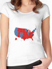 Donald Trump 45th US President - USA Map Election 2016 Women's Fitted Scoop T-Shirt