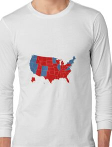 Donald Trump 45th US President - USA Map Election 2016 Long Sleeve T-Shirt