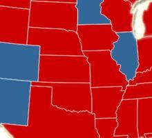 Donald Trump 45th US President - USA Map Election 2016 Sticker