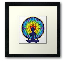 Flower of Life Meditation Framed Print