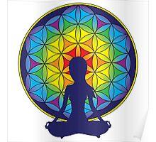 Flower of Life Meditation Poster