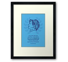 Hillary Clinton Inspiring Quote Framed Print