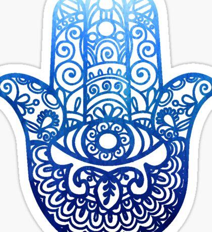 Blue Hamsa | Hand of Fatima | Globetrotter Sticker