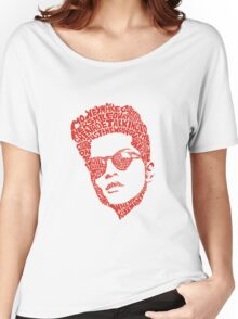 bruno mars thypography RC Women's Relaxed Fit T-Shirt