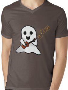 Musical Ghost Mens V-Neck T-Shirt
