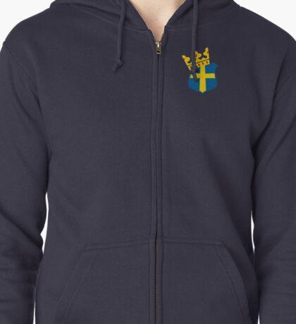 Swedish King Emblem Zipped Hoodie