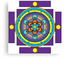 Metatron's Cube Merkaba Mandala Canvas Print