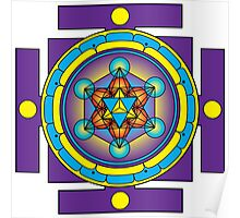 Metatron's Cube Merkaba Mandala Poster
