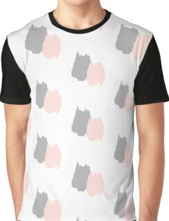 Pink and Gray Abstract Graphic T-Shirt