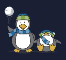 Snowballing penguins Baby Tee