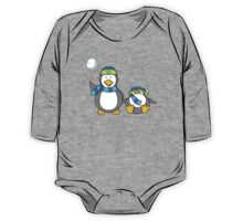 Snowballing penguins One Piece - Long Sleeve
