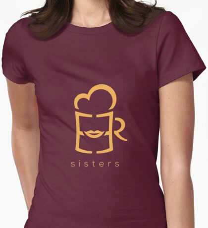 Beer Sisters Womens Fitted T-Shirt