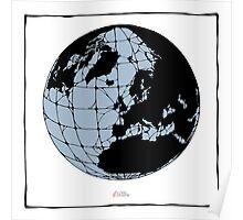 World Web (blue) Poster