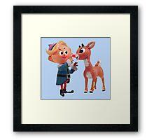 Rudolph the red nose reindeer Framed Print