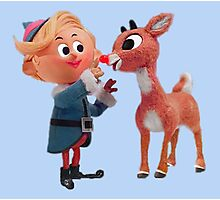 Rudolph the red nose reindeer Photographic Print