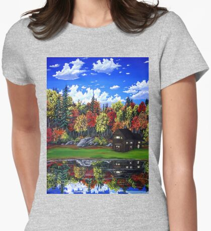 cabin in the mirror Womens Fitted T-Shirt