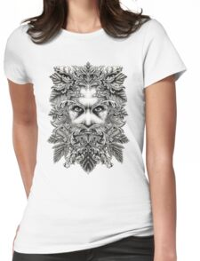 The Green Man B/W Womens Fitted T-Shirt