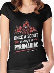 Once a scout always a pyromaniac Xmas Shirt Women's Fitted Scoop T-Shirt