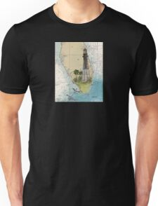 Hillsboro Inlet Lighthouse FL Chart Cathy Peek Unisex T-Shirt