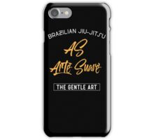 Brizilian Jiu-Jitsu As Arte Suave BJJ iPhone Case/Skin