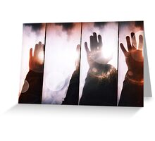 Wave goodbye Greeting Card