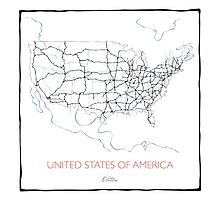 United States of America (blue) Photographic Print