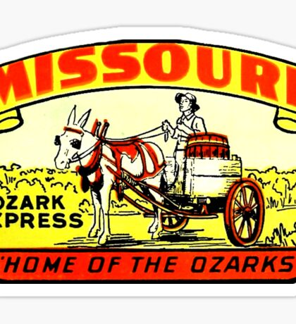 Missouri Ozarks Vintage Travel Decal Sticker