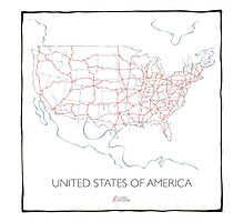 United States of America (pink) Photographic Print
