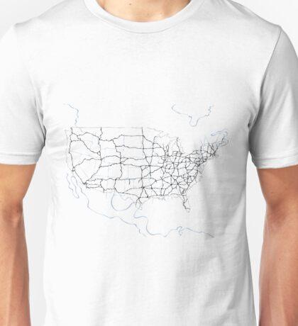 United States of America (blue) Unisex T-Shirt
