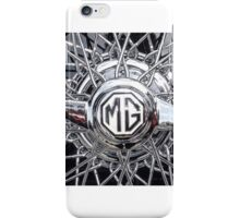 Vintage MG wheel art iPhone Case/Skin