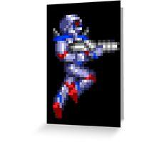 Turrican Pixel Art Greeting Card