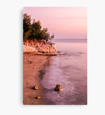 Pink East Point Evening Canvas Print