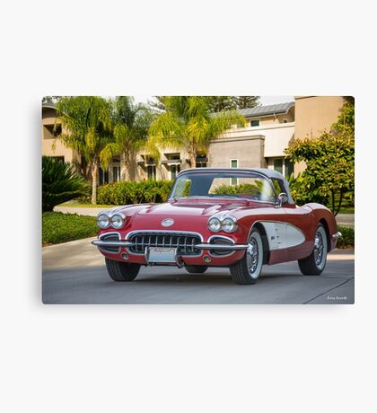 1958 Chevrolet Corvette Roadster Canvas Print