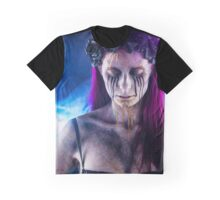 Dark Gothic Girl Graphic T-Shirt