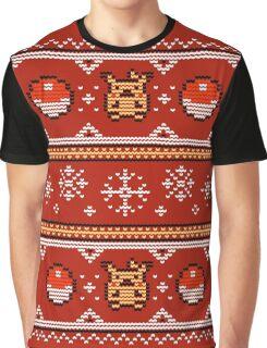 8-bit Christmas Sweater Graphic T-Shirt