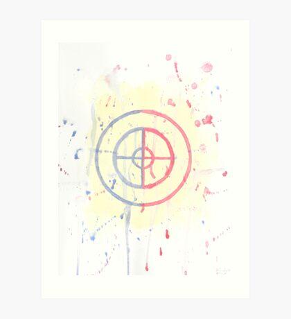 Watercolor Sniper Logo Art Print