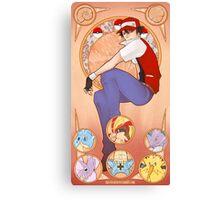 Pokemon Art Nouveau Canvas Print