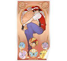 Pokemon Art Nouveau Poster