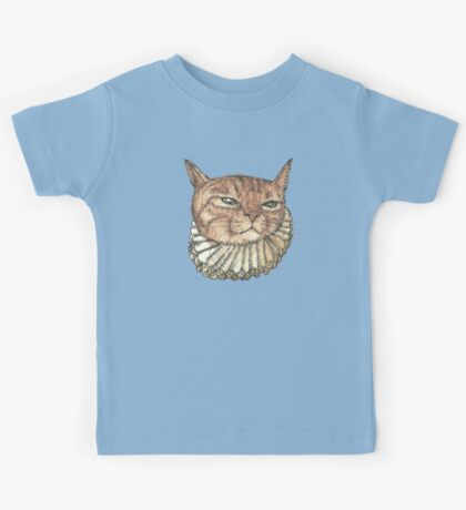 Banjo Cat Face Kids Tee