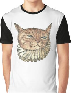 Banjo Cat Face Graphic T-Shirt
