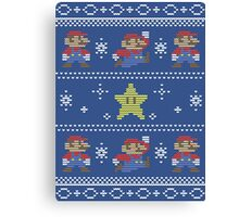 Mario Christmas Sweater Canvas Print